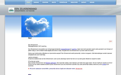 Screenshot of Home Page eenzilverenrand.nl - Een Zilverenrand - Start - captured Sept. 29, 2014