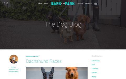 Screenshot of Blog barkinthepark.com.au - Blog service areas dog walking and training bark in the park melbourne - captured Aug. 1, 2018