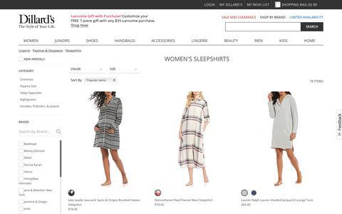 Lingerie | Pajamas & Sleepwear | Sleepshirts | Dillards.com