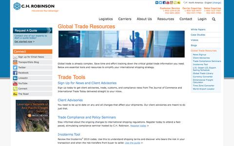 Global Trade Resources - C.H. Robinson