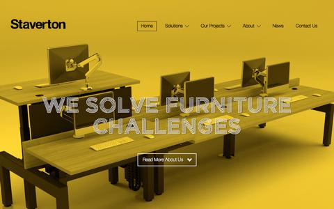 Screenshot of Home Page staverton.co.uk - Staverton – Staverton is a British designer & manufacturer of contemporary office furniture - captured Sept. 1, 2017