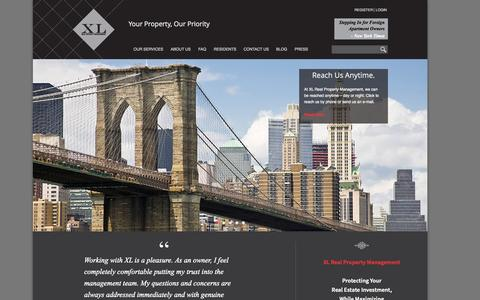 Screenshot of Home Page xl-rpm.com - XL Real Property Management - captured Oct. 4, 2014