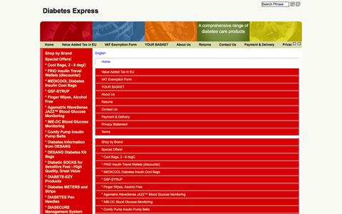 Screenshot of Site Map Page Menu Page arcticmedical.co.uk captured Feb. 6, 2016