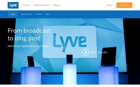 Screenshot of Press Page mylyve.com - Press + Media - captured Nov. 2, 2014
