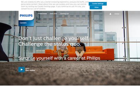 Screenshot of Jobs Page philips.com - Philips Careers | Philips Jobs - captured June 1, 2018