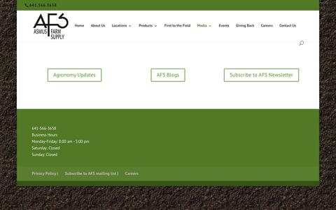Screenshot of Press Page afschem.com - Media - Asmus Farm Supply - captured Oct. 9, 2017