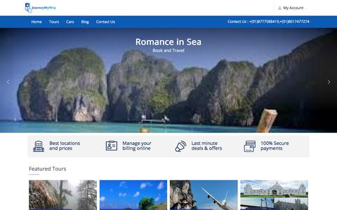 Screenshot of Home Page journeymyway.com - JourneyMyWay | Your Travel Partner - captured Sept. 20, 2018