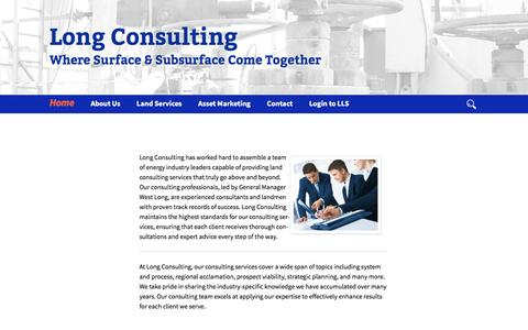 Screenshot of Home Page longconsult.com - Long Consulting | Where Surface & Subsurface Come Together - captured Nov. 13, 2016