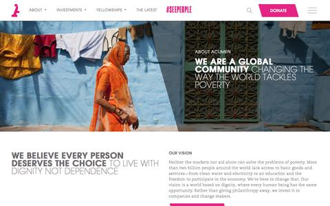 Screenshot of About Page acumen.org - Acumen | About Acumen - - captured Oct. 20, 2017