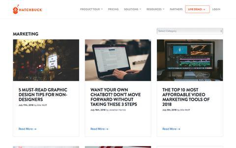 Screenshot of Blog hatchbuck.com - Marketing Archives - Hatchbuck - captured July 20, 2018