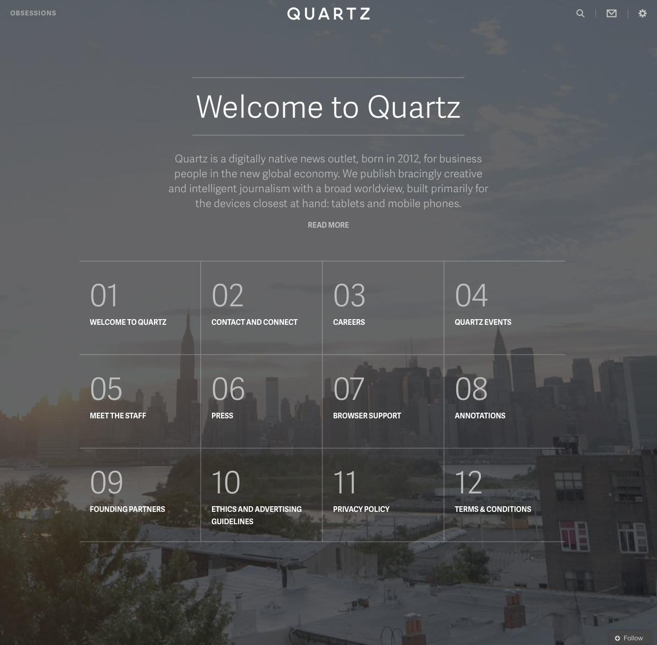 Screenshot of qz.com - About  –  Quartz - captured Sept. 19, 2014