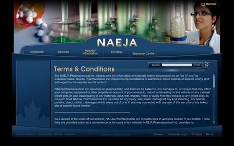 Screenshot of Terms Page naeja.com - NAEJA - captured Oct. 7, 2014