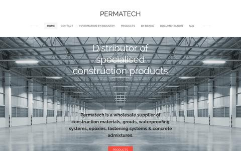 Screenshot of Home Page permatech.com.au - PERMATECH - Home - captured Sept. 16, 2015
