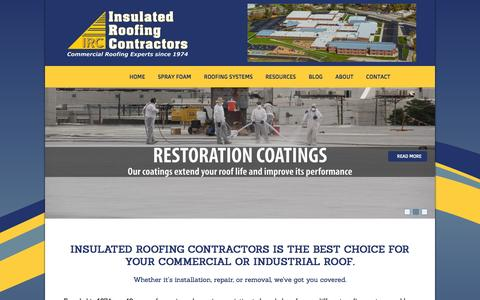 Screenshot of Home Page ircroof.com - Home | Insulated Roofing ContractorsIRC - captured Feb. 11, 2016