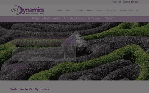 Screenshot of Home Page vetdynamics.co.uk - Supporting independent practice owners and their teams - captured Sept. 22, 2018