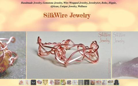 Screenshot of Home Page silkwirejewelry.com - Handmade Jewelry, SilkWire Jewelry. Wire Wrapped Jewelry, Wellness - captured Dec. 21, 2015