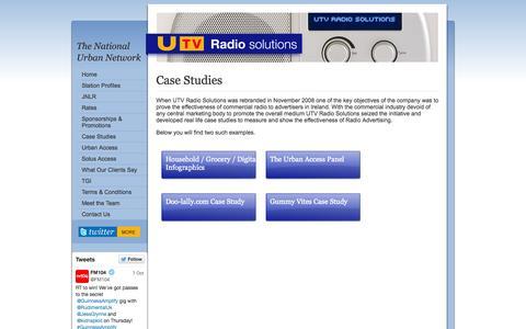Screenshot of Case Studies Page utvradiosolutions.ie - UTV Radio Solutions | Case Study - captured Oct. 9, 2014