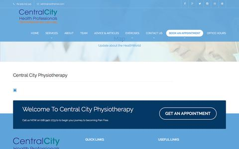 Screenshot of Maps & Directions Page centralcityphysio.com.au - Map – Central City Chiropractic - captured July 20, 2017