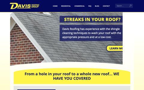 Screenshot of Home Page davisroofingandmaintenance.com - Home Page - Davis Roofing - captured Jan. 24, 2015