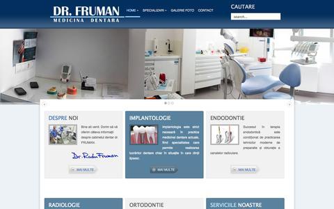 Screenshot of Home Page fruman.ro - DR FRUMAN   Stomatologie Brasov Radiologie Implantologie Dentara Stomatologie Brasov - captured Oct. 8, 2014