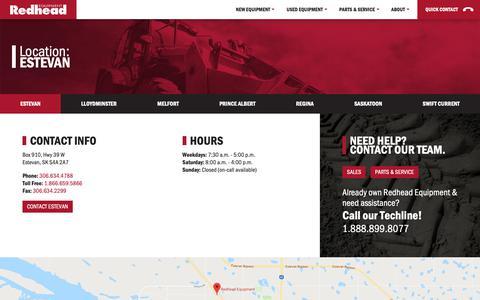 Screenshot of Locations Page redheadequipment.ca - Locations and Contact Info - Redhead Equipment - captured Oct. 20, 2018