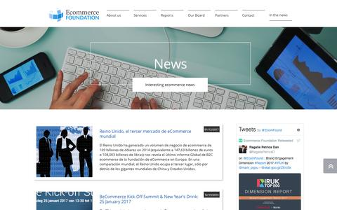 Screenshot of Press Page ecommercefoundation.org - In the news - captured May 24, 2017