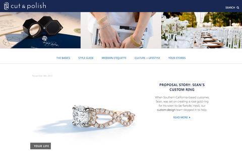 Screenshot of Blog bluenile.com - Cut & Polish | A BlueNile Blog - captured Nov. 11, 2015