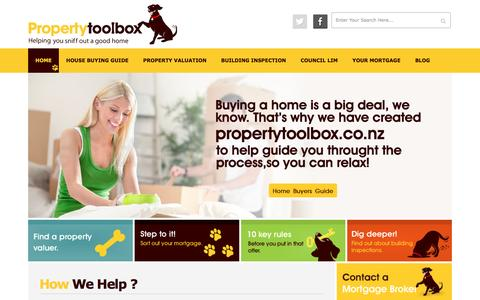 Screenshot of Home Page propertytoolbox.co.nz - House Buying Information NZ | Buying a House NZ | Propertytoolbox - captured Nov. 14, 2016