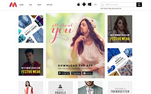 Screenshot of Contact Page myntra.com - Contrasts - Buy Contrasts online in India - captured Oct. 20, 2015