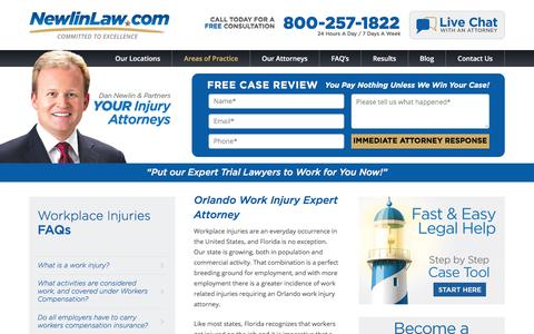 Orlando work injury attorney - Dan Newlin - Recovered Millions