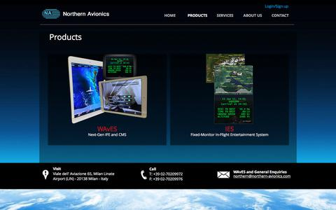 Screenshot of Products Page northern-avionics.com - Northern Avionics | PRODUCTS - captured Nov. 4, 2017