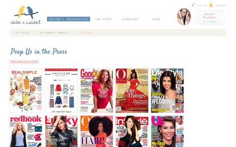Screenshot of Press Page chloeandisabel.com - chloe + isabel - captured July 19, 2014