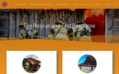 Screenshot of Home Page firerescueandfirstresponse.co.nz - Fire Rescue and First Educational Consulting, Organizational Training - captured Nov. 14, 2018