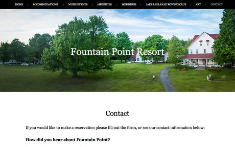 Contact - Fountain Point Resort