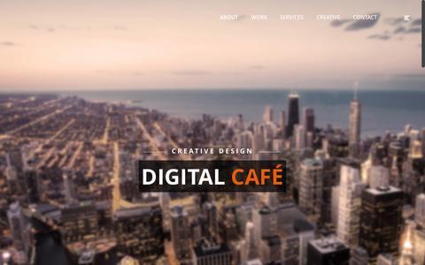 Screenshot of Home Page digife.com - Home - Digital Café - captured Jan. 24, 2015