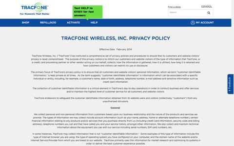 Privacy Policy | TracFone Wireless