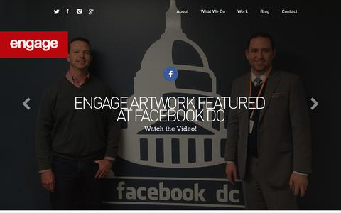 Screenshot of Home Page enga.ge - Facebook DC | Engage - captured Oct. 1, 2015