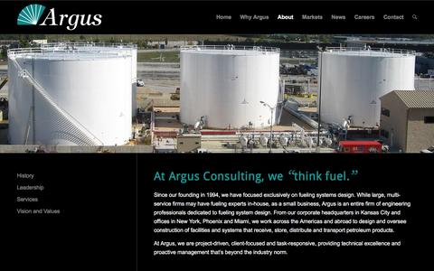 Screenshot of About Page argusconsulting.com - About Argus Consulting   Designers of Fuel Storage and Distribution Systems - captured Dec. 26, 2015