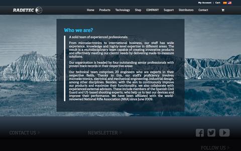 Screenshot of Team Page radetec.com - The team of radetec - captured Dec. 19, 2016