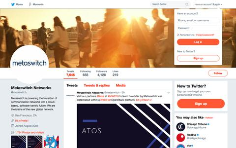 Metaswitch Networks (@metaswitch)   Twitter
