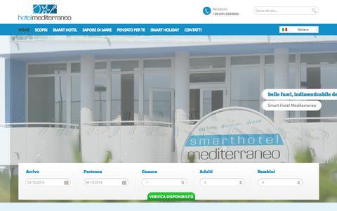 Screenshot of Home Page Terms Page hotelmediterraneochioggia.it - Smart Hotel Mediterraneo - Sottomarina di Chioggia - Venezia - per la tua prossima vacanza al mare in Veneto - captured Oct. 3, 2014