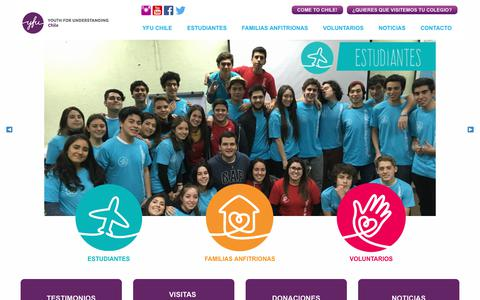 Screenshot of Home Page yfu.cl -   Youth for Understanding Chile - Intercambio Estudiantil Internacional - captured Nov. 11, 2017