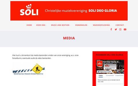 Screenshot of Press Page sdgalblasserdam.nl - Media zoals foto's en video's van Soli Deo Gloria - captured Sept. 28, 2018