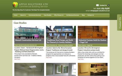 Screenshot of Case Studies Page apple-solutions.co.uk - Case Studies - captured Sept. 30, 2014