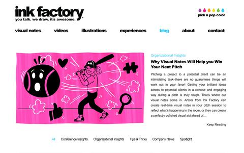Screenshot of Blog inkfactorystudio.com - Blog - Ink Factory - captured Oct. 12, 2018