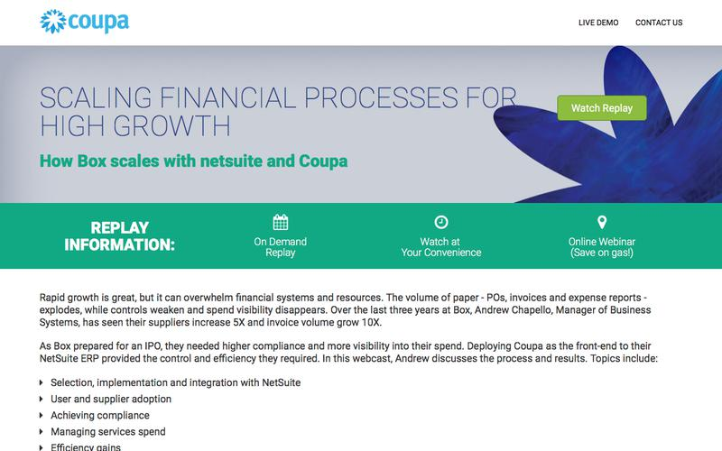 Coupa Webcast | Scaling Finance for Growth