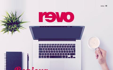 Screenshot of Home Page agence-revolutions.com - Agence Révolutions - agence digitale basée à Paris. - captured Nov. 20, 2016