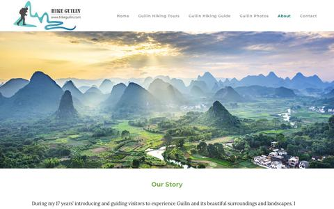 Screenshot of About Page hikeguilin.com - About Hike Guilin - captured Feb. 26, 2018