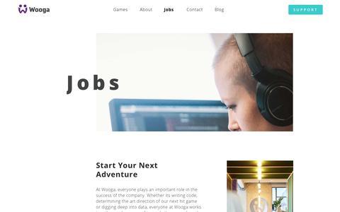 Screenshot of Jobs Page wooga.com - Jobs - Wooga - captured April 18, 2019