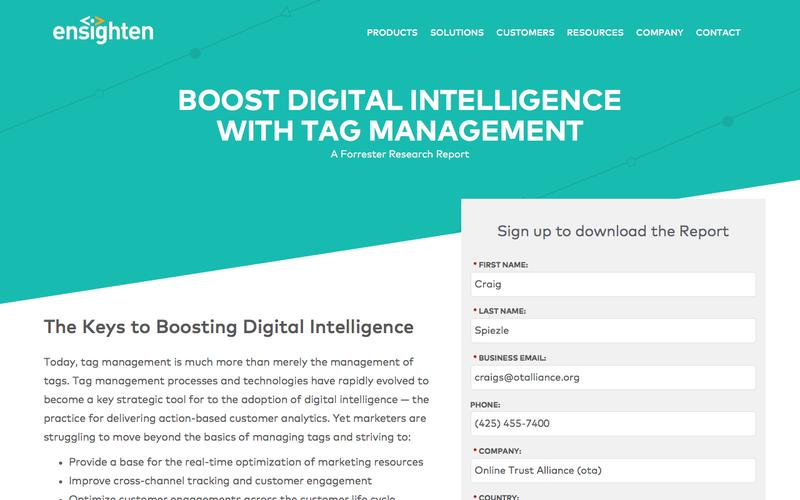 Boost Digital Intelligence with Tag Management | Registration